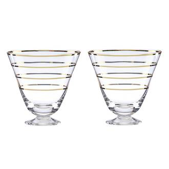 kate spade new york Melrose Avenue Cocktail Glasses pair