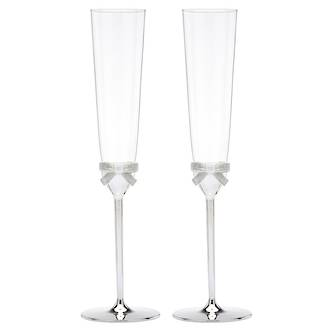 kate spade new york Grace Avenue Toasting Flutes pair