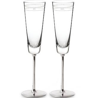 kate spade new york Darling Point Toasting Flutes pair