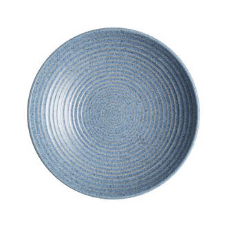 Studio Blue Ridged Bowl Medium - Flint