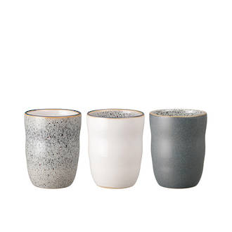 Studio Grey Handleless Mugs, set 3