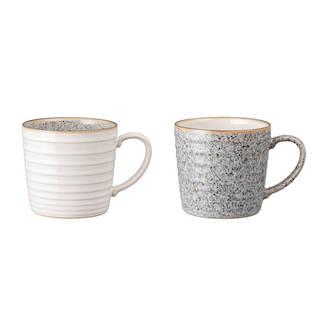 Denby Studio Grey Ridged Mug Set 2