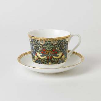 Classic Gold Strawberry Breakfast Cup & Saucer
