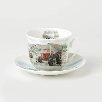 Countryside Tractors Breakfast Cup & Saucers