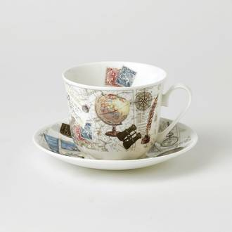 Past Times Breakfast Cup & Saucer