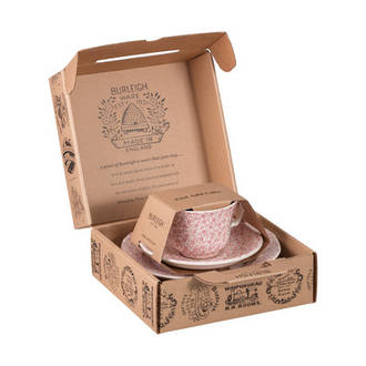 Felicity Pink Cup, Saucer & Plate Boxed