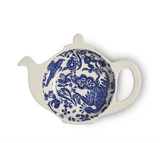Regal Peacock Mini Teapot Tray