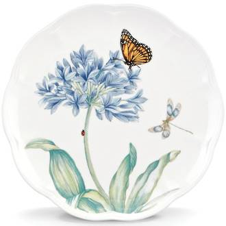 Butterfly Meadow Blue Accent Plate