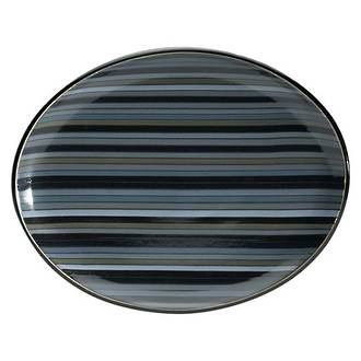 Jet Stripes Oval Platter