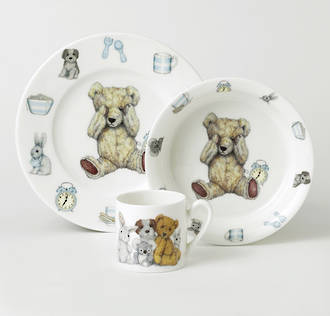 Teddy Time Gift Set - Blue
