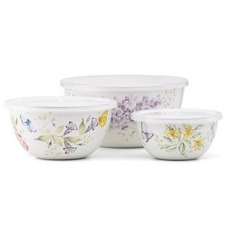 Butterfly Meadow Enamel Bowls, Set 3