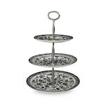 Black Regal Peacock 3 Tier Cakestand