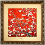 Almond Tree Red Picture 68x68cm