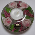 Pink Flowers UFO Mini Tealight