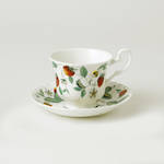 Alpine Strawberry Teacup & Saucer