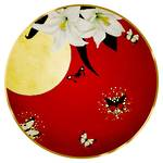 Joanna Charlotte Plate - Lilies Red