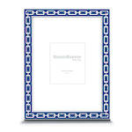 Silver Link Frame Navy 5x7