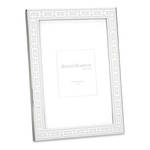 Silver Link Frame White 5x7