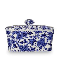 502039 Blue Arden Rectangular Butter Dish200 side