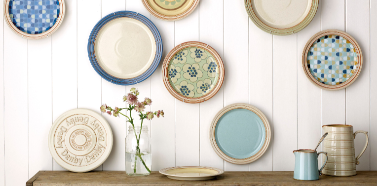 334100 Denby Heritage plates on wall HR-352