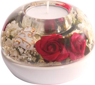 Red Rose Dome Smart Tealight