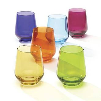 Tuscany Cool Colours Stemless Wine, box 6