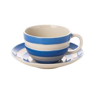 Cornish Blue Cappuccino Cup & Saucer