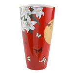 Joanna Charlotte Vase - Lilies Red