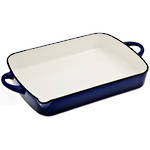 Cast Iron Blue Oblong Roaster